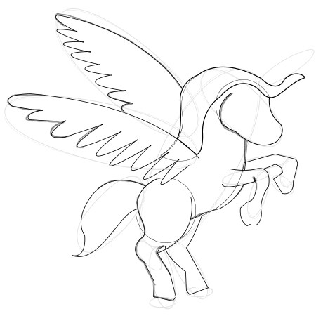 450x450 Paper Time Step By Step Instructions To Draw Unicorns With Wings