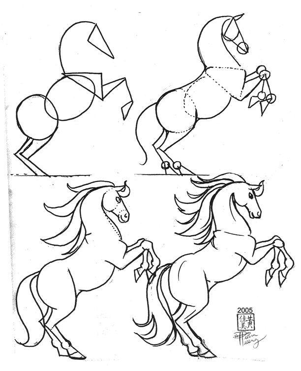 612x755 Draw A Horse 2 By Diana Huang On Horse Drawing