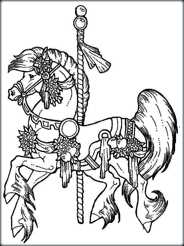 600x801 Horse And Carriage Coloring Pages Horse Coloring Page Horse