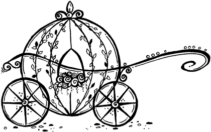 420x263 Cinderella Carriage Outline