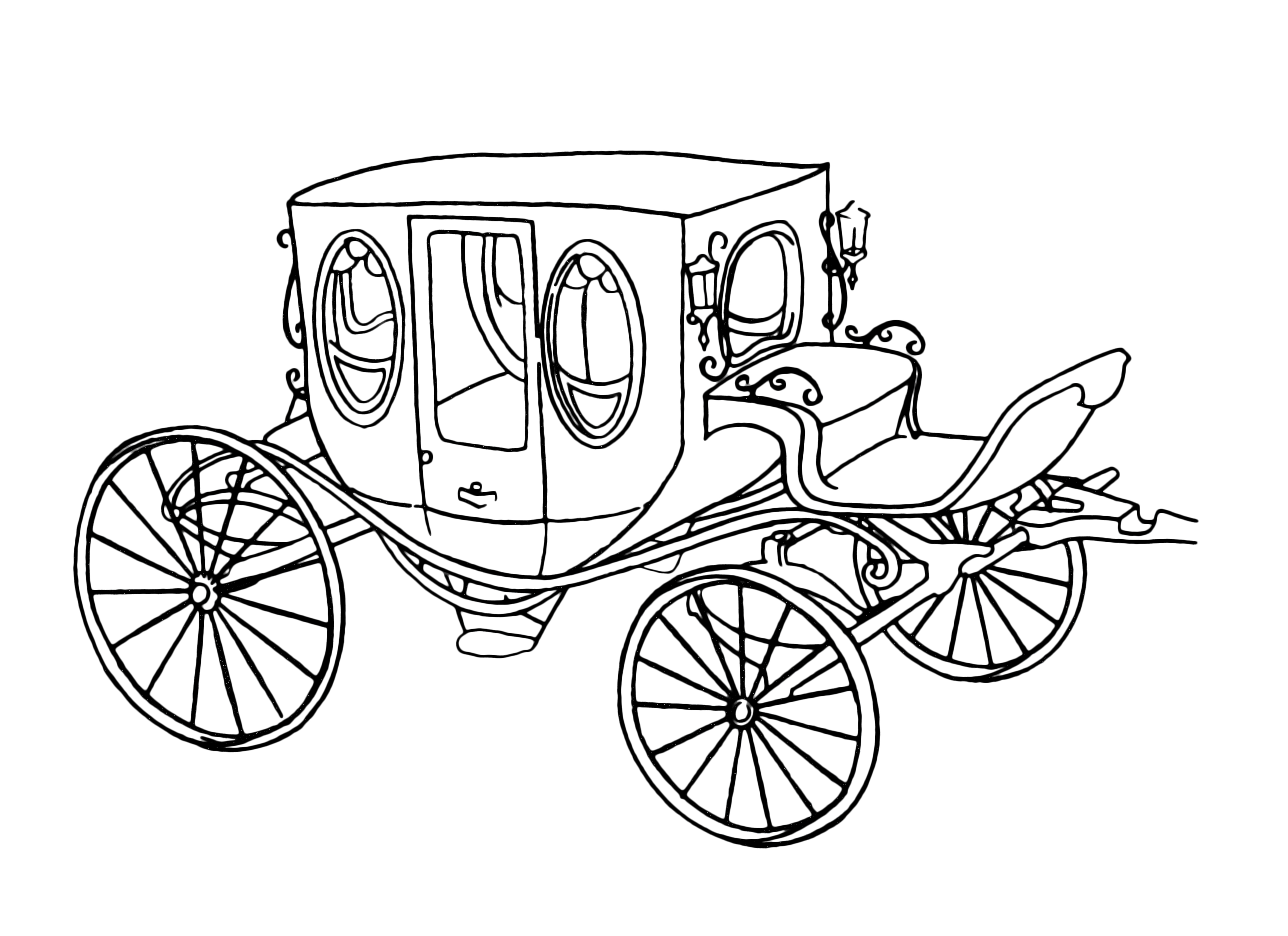 6003x4365 Charming Stagecoach Coloring Pages For Kids Photos