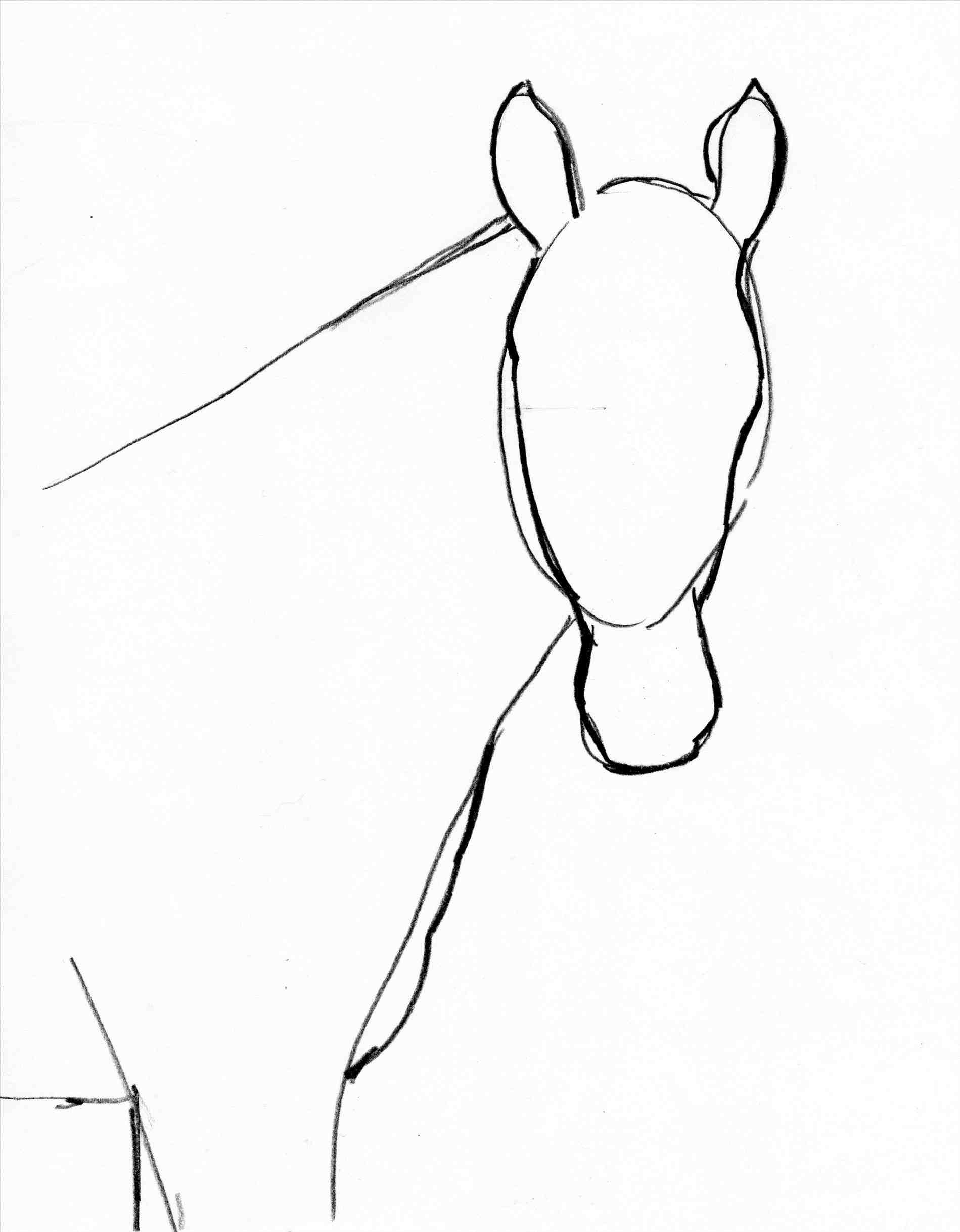 Horse Easy Drawing