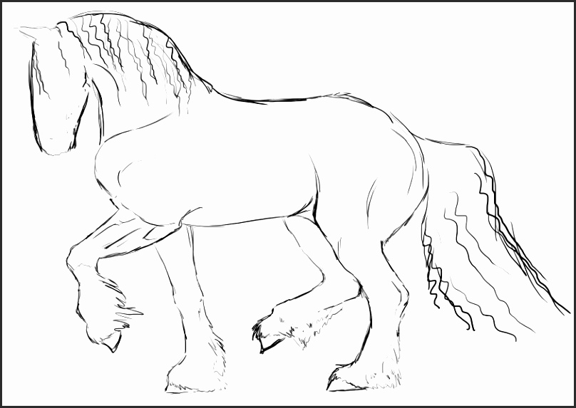 808x573 Easy Drawing Of A Horse U2fsb Unique Easy Horse Drawings In Pencil