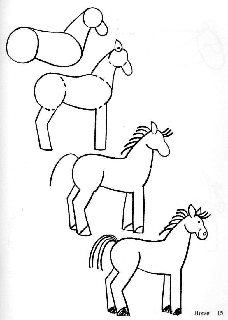 782x1094 Horse Drawing Clip Art
