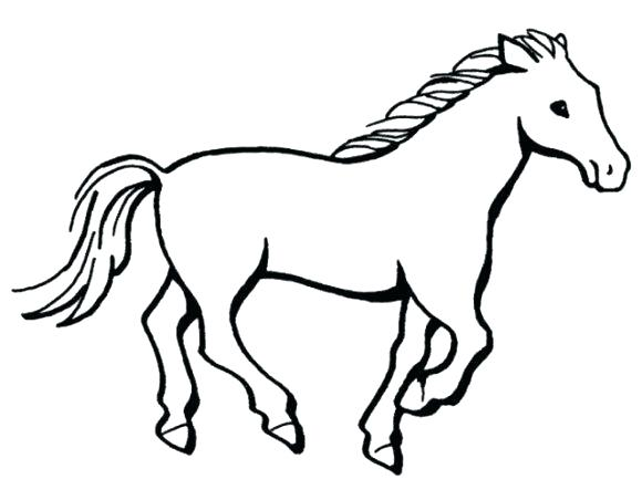 580x443 Simple Animal Coloring Pages Animal Coloring Sheets Simple Horse