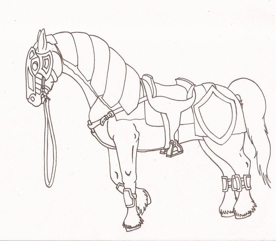 900x786 War Horse By Kiinastar