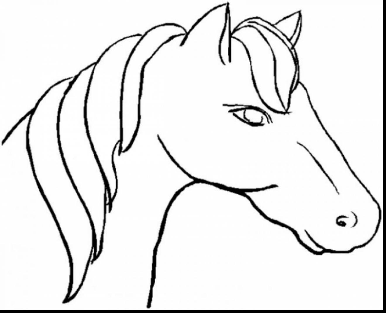 1320x1072 Horse Face Coloring Page Paginone.biz