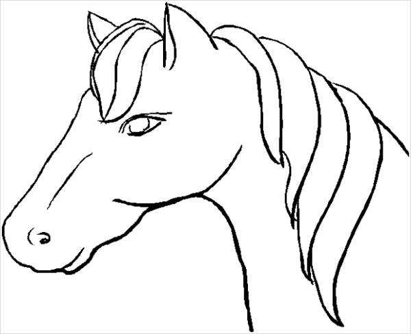 600x488 Horse Coloring Pages