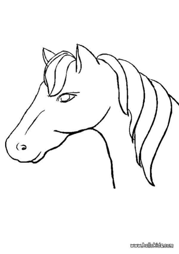 601x850 Horse Head Coloring Pages