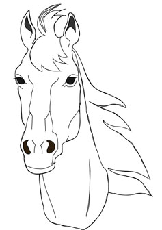 237x336 Download Free Horse Face Coloring Page