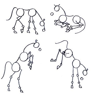350x367 Drawing Horses In Fantastic Action