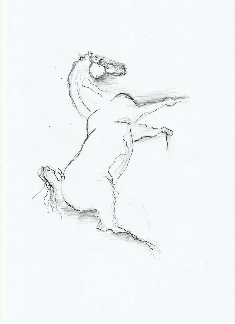 770x1059 Saatchi Art Horse 12 Drawing By Lasha Tab