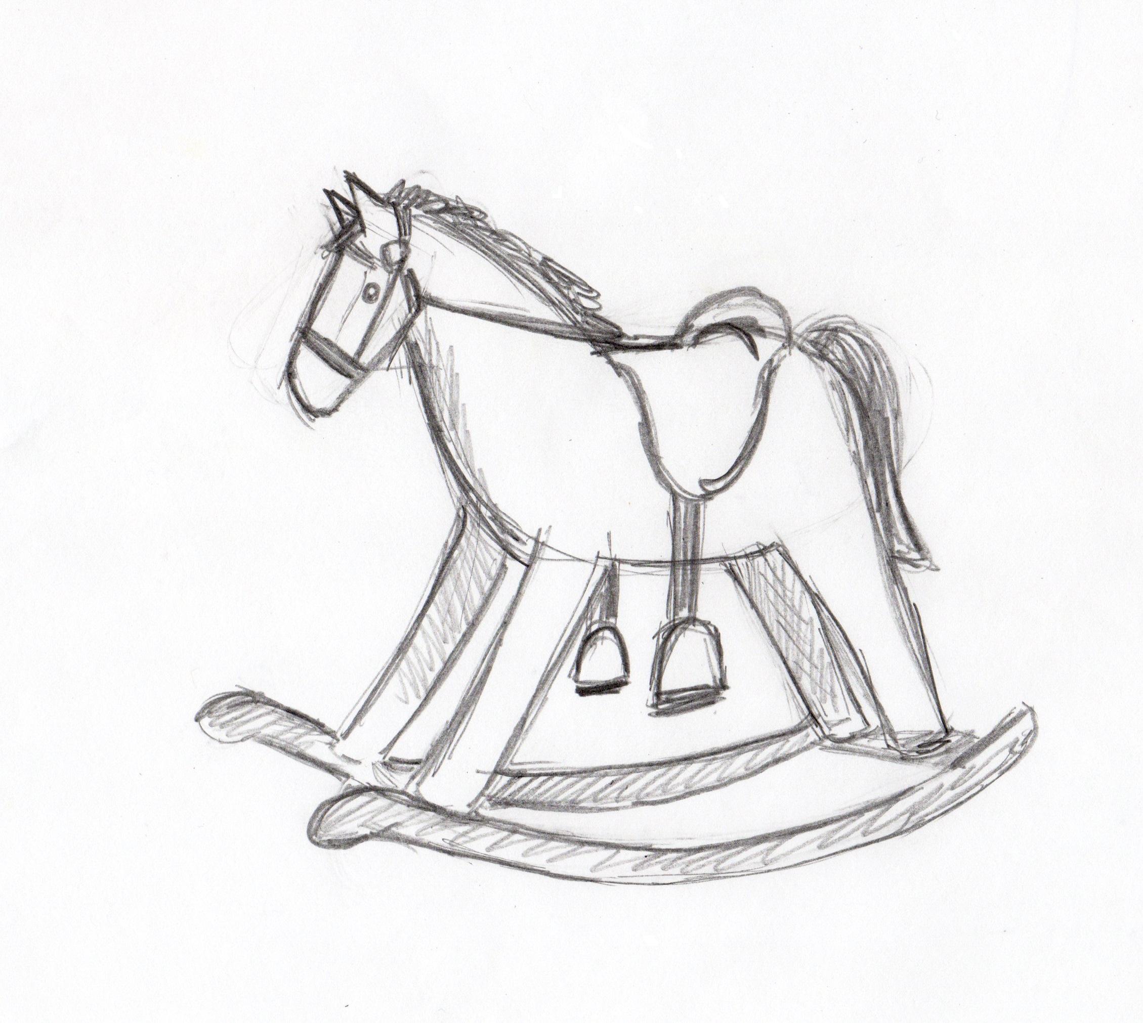 2259x2023 Rocking Horse Drawing