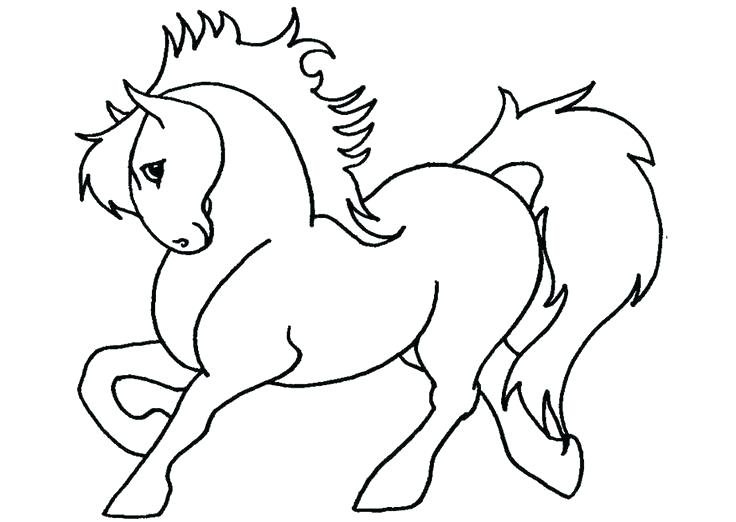 736x522 Coloring Page Of Horse Coloring Pages For Horses Coloring Page