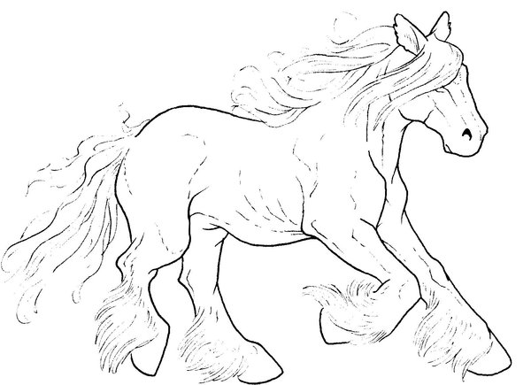 600x435 Free Galloping Horse Lineart By Bonbon3272