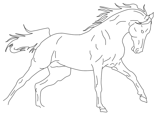 685x492 Galloping Horse Lineart By Poseidonss