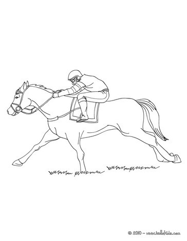 364x470 Galloping Race Horse Coloring Pages