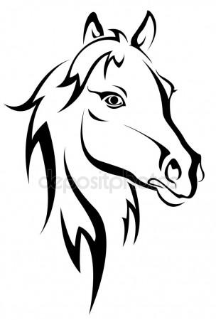 304x450 Horse Head Stock Vectors, Royalty Free Horse Head Illustrations