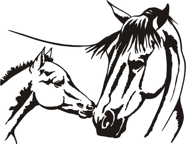 599x464 Horse Head Simple Horse Face Clipart