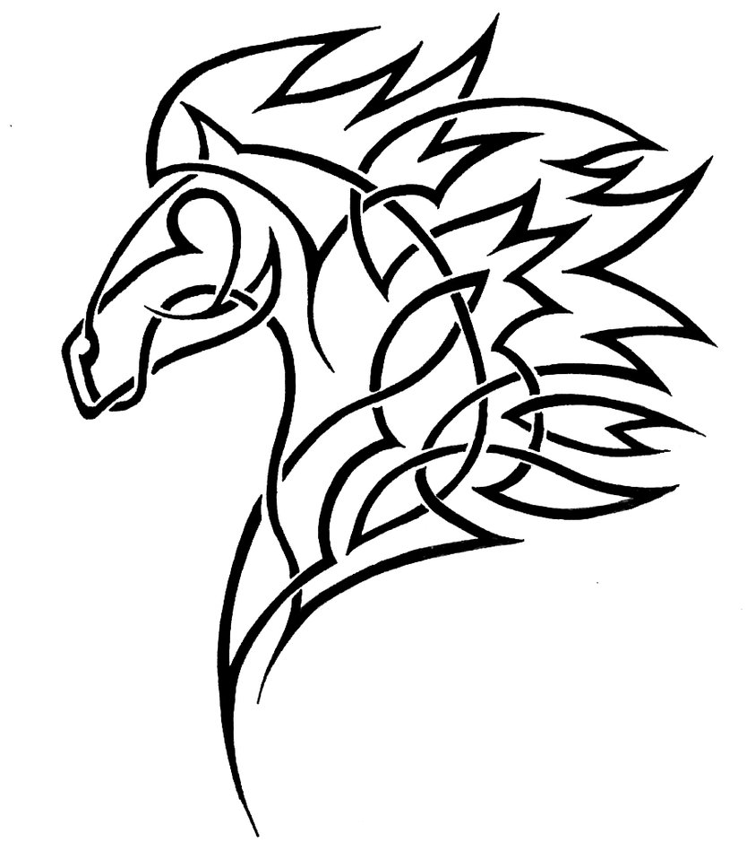 Horse Head Drawing at GetDrawings.com | Free for personal use Horse ...