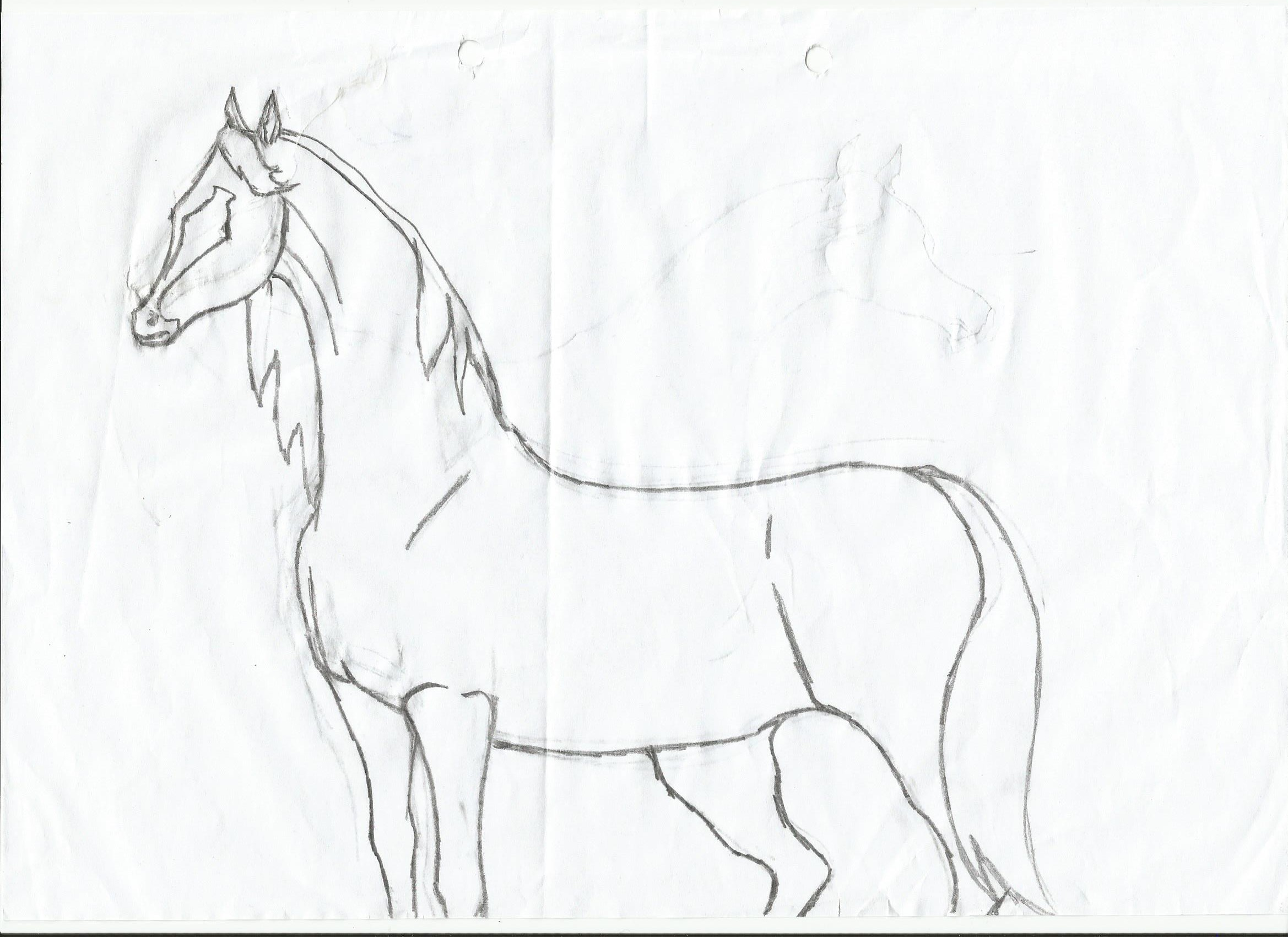 Horse Head Drawing Easy at GetDrawings.com | Free for ...