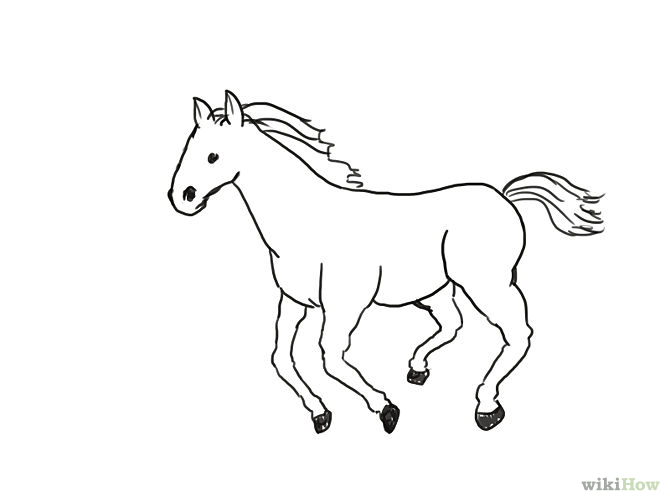 670x503 Horse Drawing Easy