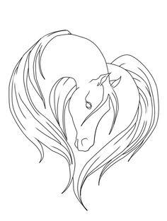 236x313 Easy horse drawings Simple Horse Head Drawing Elegant Horse Head