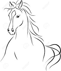 Horse Head Drawing Outline