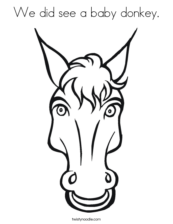 685x886 Donkey Head Coloring Page