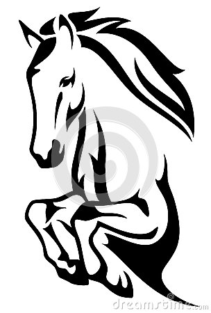 304x450 Horse Jump Vector Stock Images