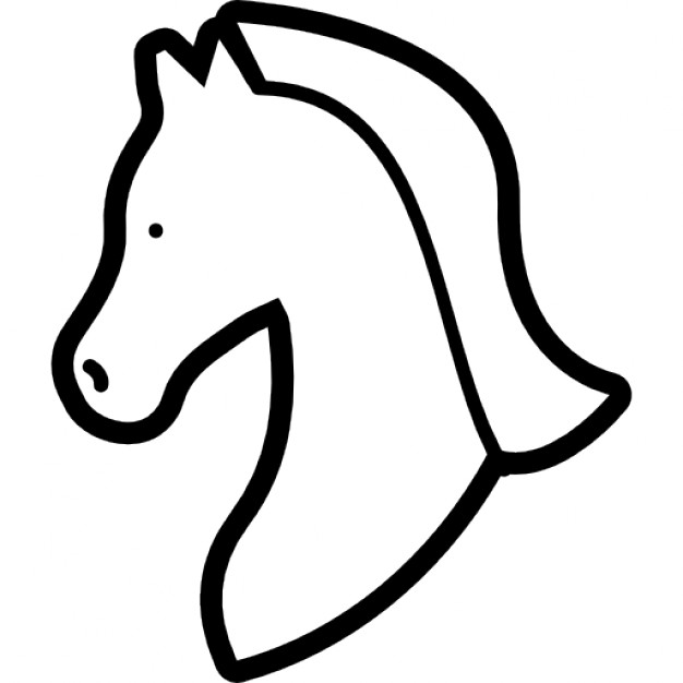 626x626 Horse Head Outline Facing The Left Icons Free Download