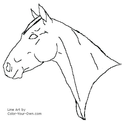 500x500 Horse Head Coloring Horse Head Coloring Page Coloring Page