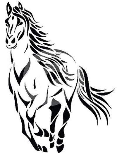 400x526 Collection Of Horse Tattoo Drawing