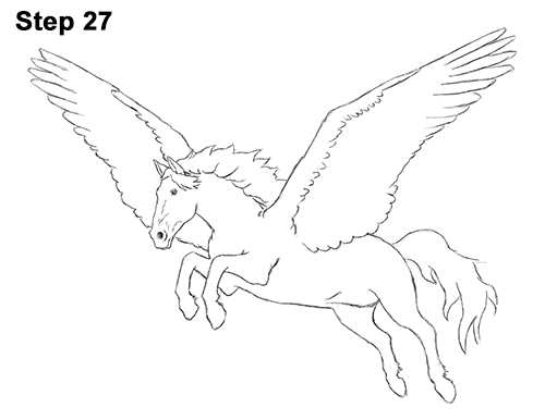 500x386 How To Draw A Pegasus