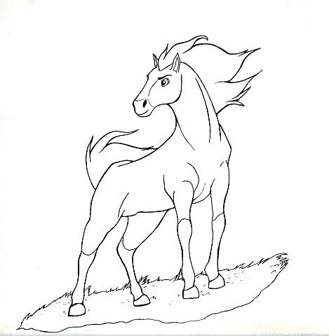 469x480 Spirit Stallion Of The Cimarron Coloring Pages To Print Horse