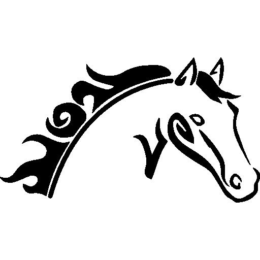 512x512 Horse Head, Animals, Horses, Horse Variant, Horse Sketch, Horse Icon