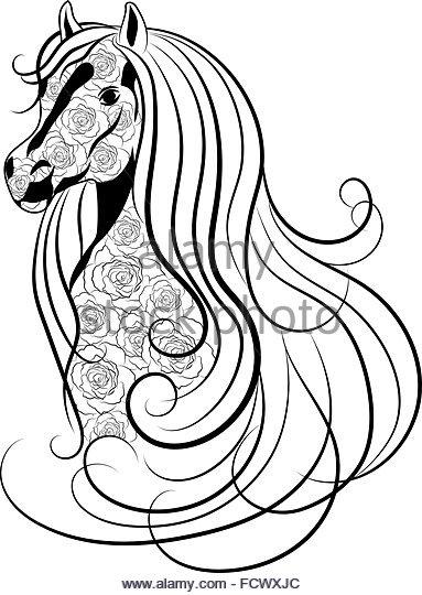383x540 Horse Head Sketch For Stock Photos Amp Horse Head Sketch For Stock