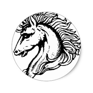 324x324 Horse Head Stickers Zazzle