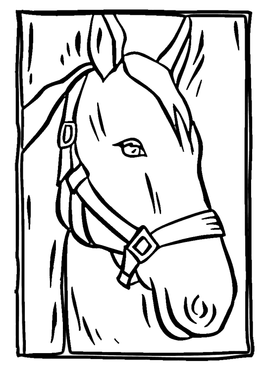 529x750 Coloring Pages Of A Horse Head Headless Horseman Coloring Pages