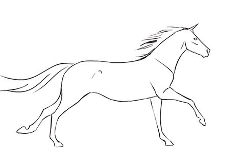 474x325 Draw Horse Hoof Walking