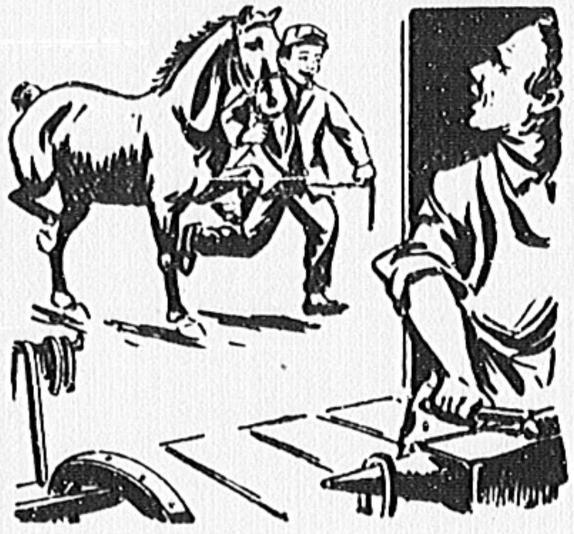 574x534 Filehorse Favoring His Rear Hoof (Sketch).jpg