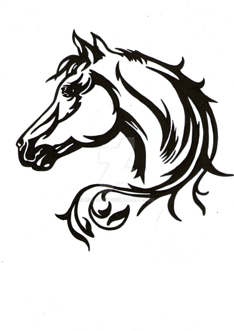 752x1063 Horse Ink By Melski83