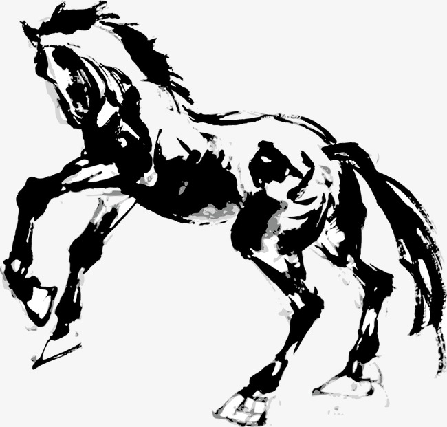 650x621 Ink Wind Mercedes Benz Horse, Ink, Steed, Decoration Png
