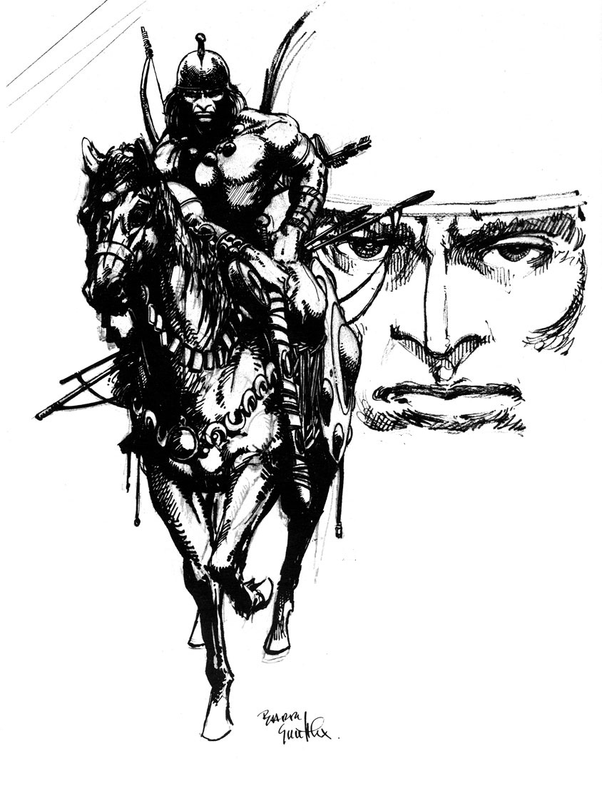844x1112 Cap'N's Comics Conan On A Horse By Barry Smith
