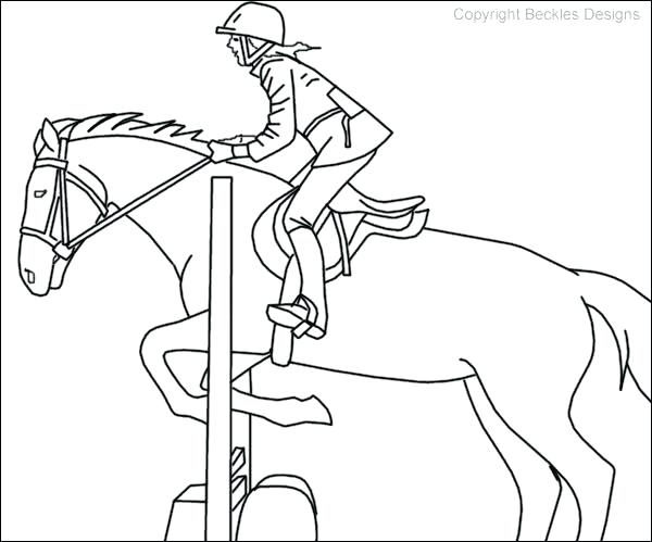 600x499 Horse Jumping Coloring Pages Coloring Pages Of Horses Photo
