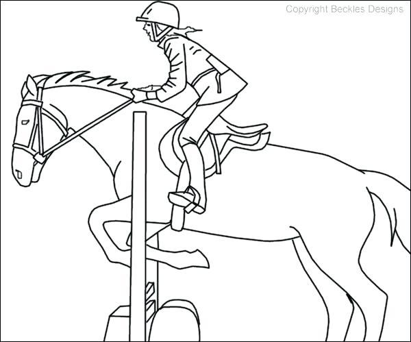 horse jumping drawing at getdrawings com