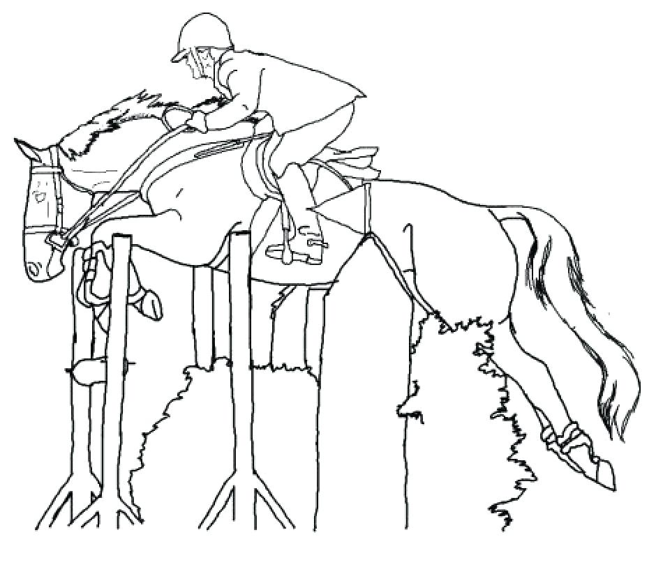 940x836 Horse Jumping Coloring Pages Racing