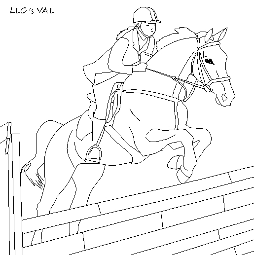 515x517 Horse Jumping Line Art By Thelonglivingconchit
