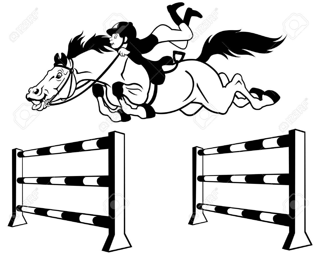 1300x1040 Kid With Horse Jumping A Hurdle,equestrian Sport,black And White