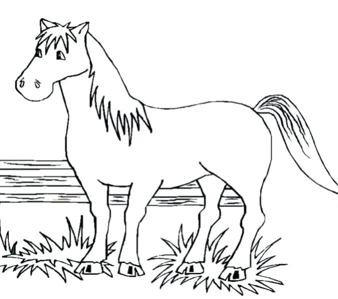 678x600 Printable Horse Coloring Pages Good Free Printable Horse Coloring
